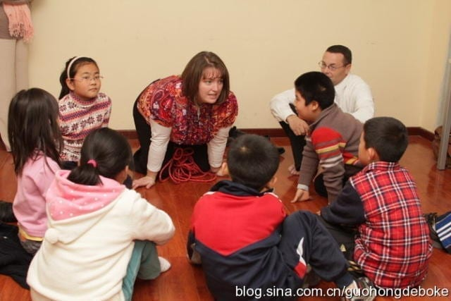 Me with a group of children