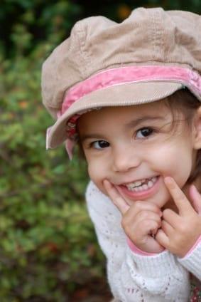 happy toddler hat