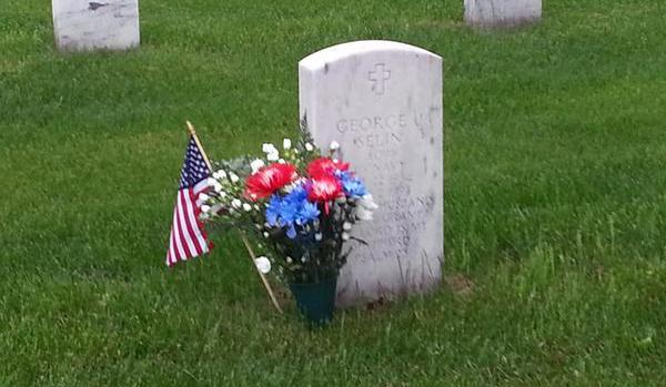 Headstone on Memorial Day