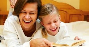 Laughing bedtime story