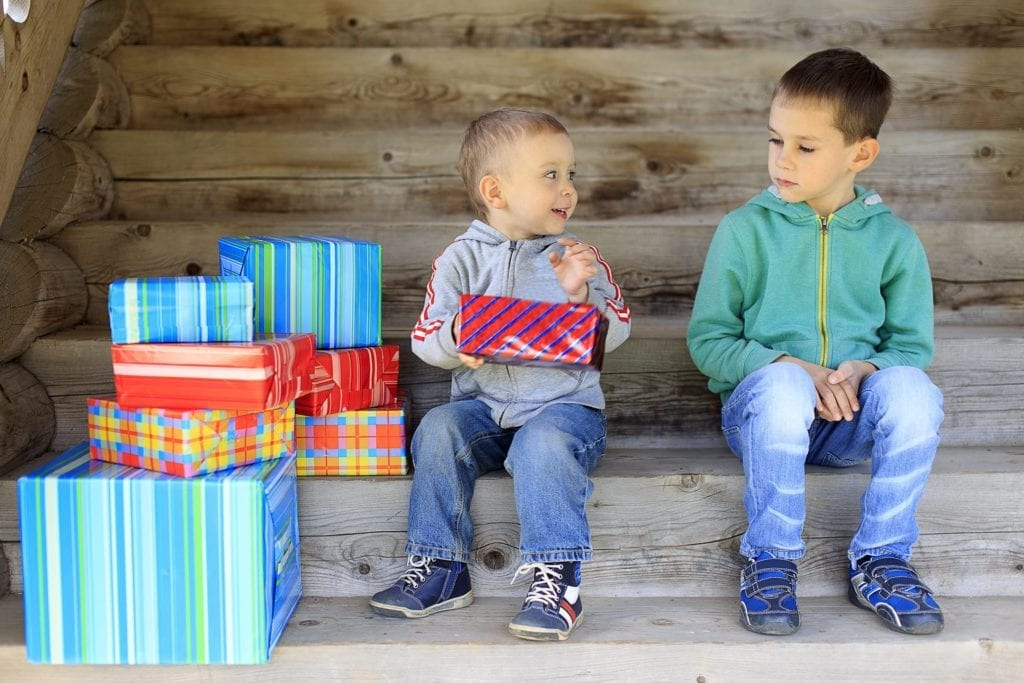 Boy jealous of brother